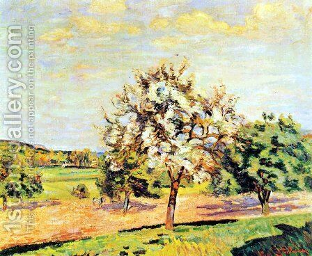 Les Pommiers En Fleurs, Ile De France by Armand Guillaumin - Reproduction Oil Painting
