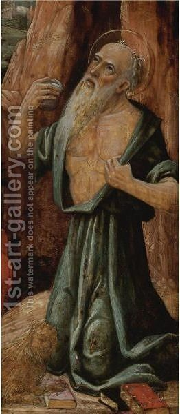 Saint Jerome by (after) Giovanni Martino Spanzotti - Reproduction Oil Painting