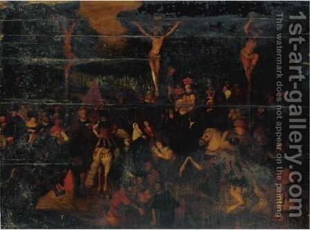 Crucifixion 2 by (after) Louis De Caullery - Reproduction Oil Painting