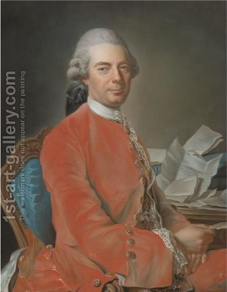 Portrait Of Johann Graf Fries by Alexander Roslin - Reproduction Oil Painting