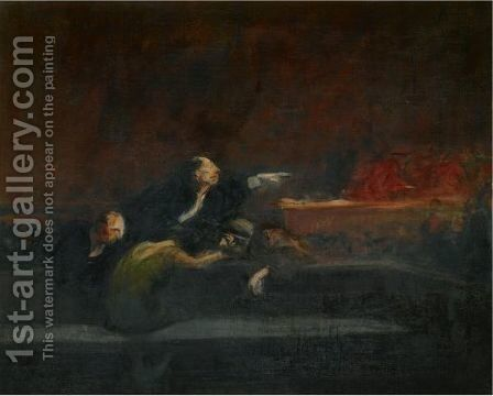 Apres Le Verdict by Jean-Louis Forain - Reproduction Oil Painting