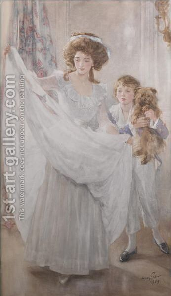 Mother And Son by Mary L. Gow - Reproduction Oil Painting