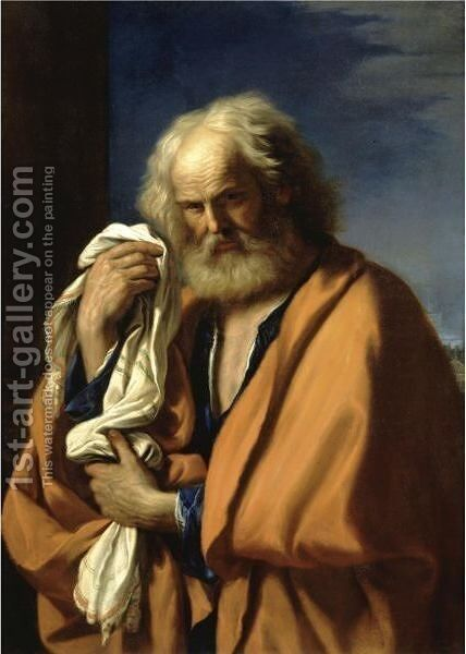 Saint Peter Penitent by Giovanni Francesco Guercino (BARBIERI) - Reproduction Oil Painting