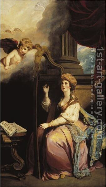 Saint Cecilia by Sir Joshua Reynolds - Reproduction Oil Painting