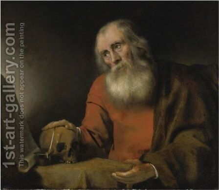 St. Jerome by Abraham van Dijck - Reproduction Oil Painting