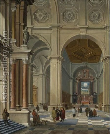 Interior Of A Vaulted Church by Bartholomeus Van Bassen - Reproduction Oil Painting