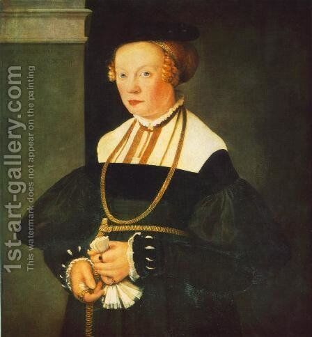 Portrait Of Felicitas Seiler 1537 by Christoph Amberger - Reproduction Oil Painting
