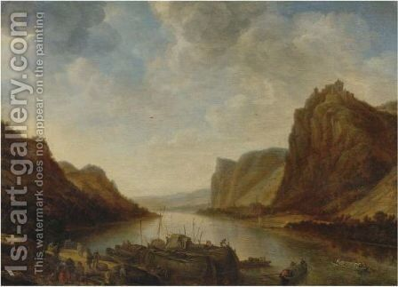 A View Of The Rhine Near Hammerstein by Herman Saftleven - Reproduction Oil Painting