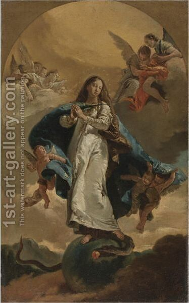 The Immaculate Conception 2 by (after) Giovanni Battista Tiepolo - Reproduction Oil Painting