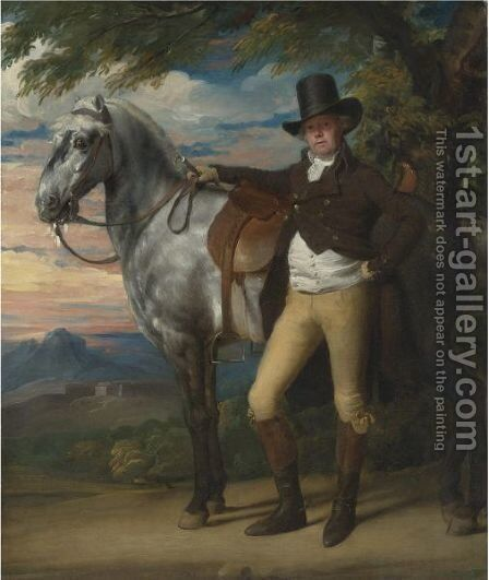 John Wombwell With A Grey Hunter by John Singleton Copley - Reproduction Oil Painting
