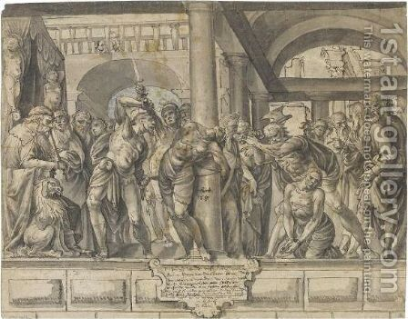 The Judgement Of Brutus by Hans The Elder Bock - Reproduction Oil Painting