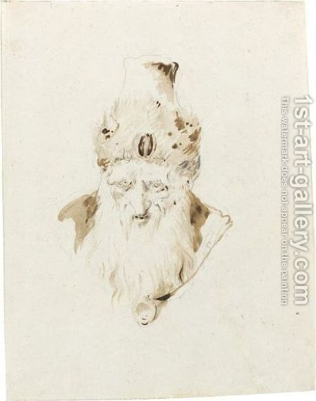Head Of A Magician by Giovanni Battista Tiepolo - Reproduction Oil Painting