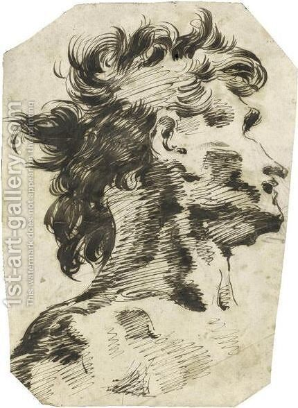 Head Of A Man, Turned To The Right by Giovanni Battista Piranesi - Reproduction Oil Painting
