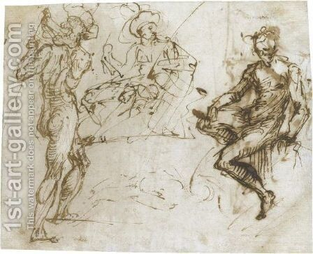 Sheet Of Figure Studies by Daniele Crespi - Reproduction Oil Painting