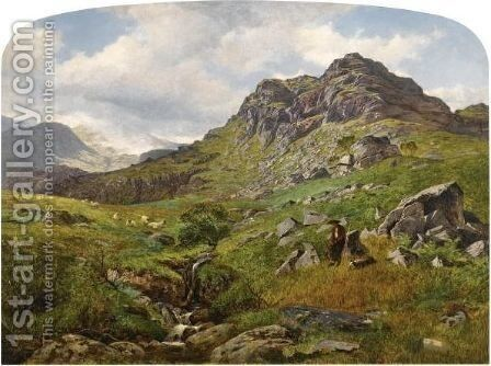 The Mountain's Top by Benjamin Williams Leader - Reproduction Oil Painting