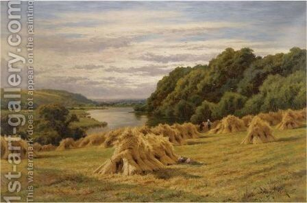 On The Thames, Near Basildon Woods by Henry Hillier Parker - Reproduction Oil Painting