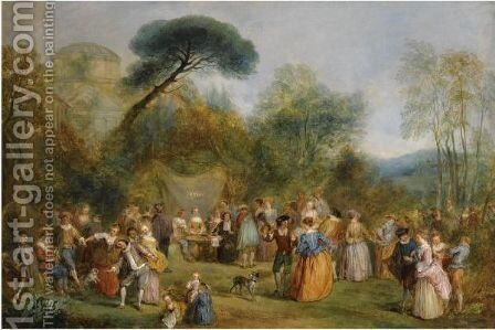 La Fete Galante by Henry Andrews - Reproduction Oil Painting