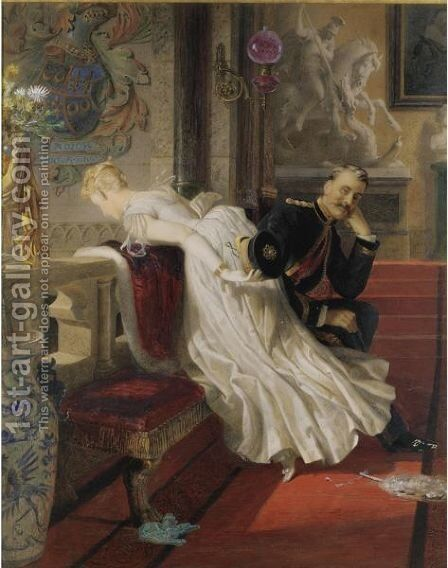 Amor Vincit Omnia by Edward Henry Corbould - Reproduction Oil Painting