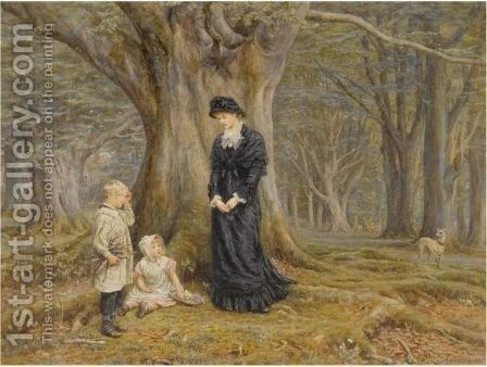 The Lady Of The Manor by Helen Mary Elizabeth Allingham, R.W.S. - Reproduction Oil Painting