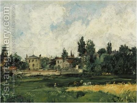Village by Antoine Vollon - Reproduction Oil Painting