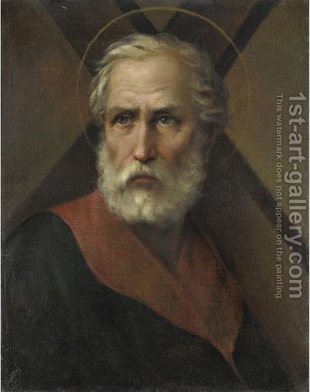 Saint Andrea by Italian School - Reproduction Oil Painting