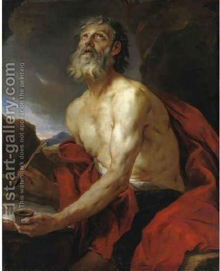 San Girolamo by (after) Pierre Subleyras - Reproduction Oil Painting