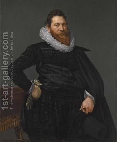 Portrait Of Volckert Overlander, Lord Of Purmerland And Ilpendam (1571-1630) by Cornelis van der Voort - Reproduction Oil Painting