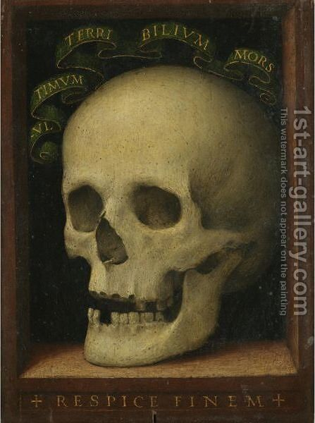 A Vanitas Still Life With A Skull by Florentine School - Reproduction Oil Painting