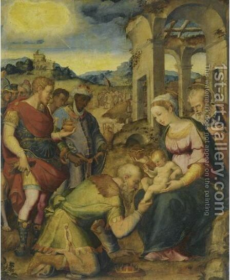 The Adoration Of The Magi by (after) Giorgio Vasari - Reproduction Oil Painting