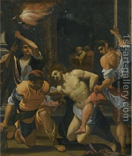 The Flagellation Of Christ by (after) Lodovico Carracci - Reproduction Oil Painting