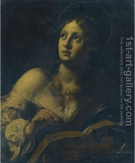 Saint Catherine Of Alexandria by Giovanni Martinelli - Reproduction Oil Painting