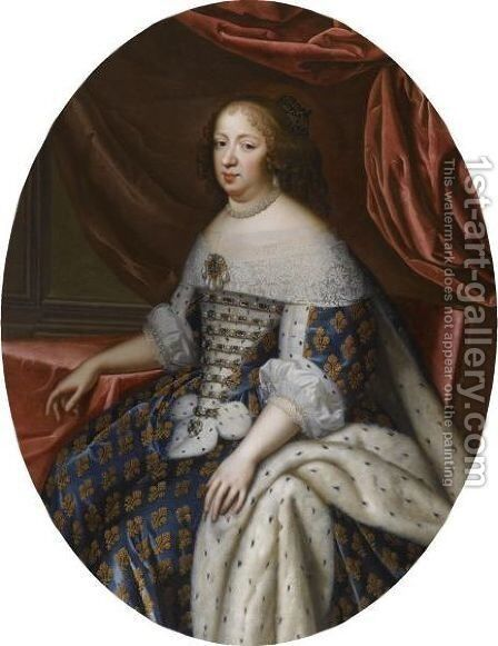 Portrait Of Anne Of Austria, Queen Of France (1601-1666) by Charles Beaubrun - Reproduction Oil Painting