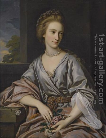 Portrait Of Charlotte Hartley (1752-1782) by Sir Nathaniel Dance-Holland - Reproduction Oil Painting