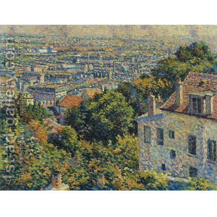 Montmartre, De La Rue Cortot, Vue Vers Saint-Denis by Maximilien Luce - Reproduction Oil Painting