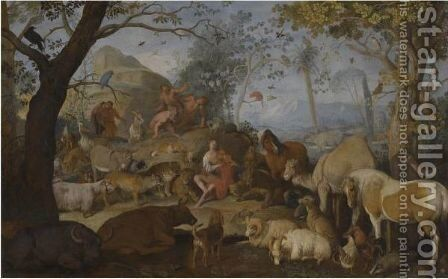 Orpheus Charming The Animals by Sinibaldo Scorza - Reproduction Oil Painting
