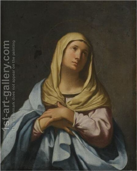 The Madonna In Prayer by (after) Giovanni Domenico Cerrini - Reproduction Oil Painting