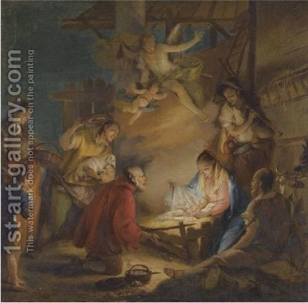The Adoration Of The Shepherds by Francesco Zugno - Reproduction Oil Painting