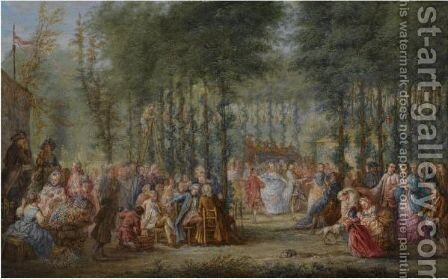 Fete Champetre 2 by (after) Lancret, Nicolas - Reproduction Oil Painting