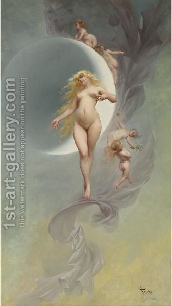 The Planet Venus by Luis Ricardo Falero - Reproduction Oil Painting