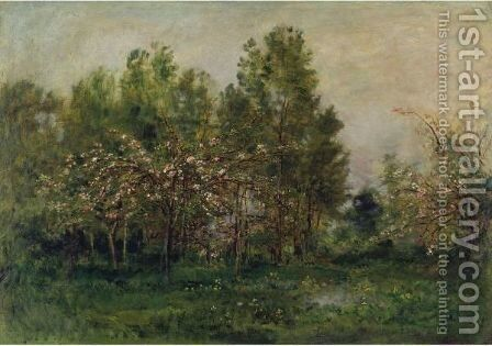 Apple Blossoms 2 by Charles-Francois Daubigny - Reproduction Oil Painting