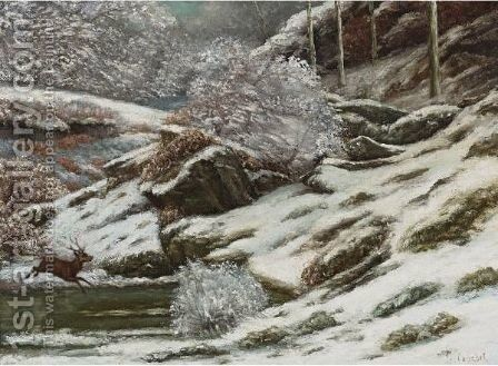 Paysage D'Hiver by Gustave Courbet - Reproduction Oil Painting