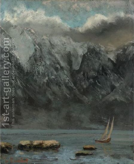 Bords Du Lac Leman by Gustave Courbet - Reproduction Oil Painting