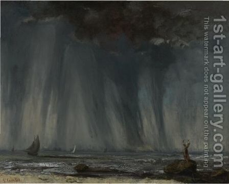 La Trombe by Gustave Courbet - Reproduction Oil Painting