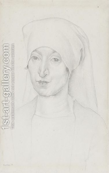 Portrait Of Angeline Beloff by Diego Rivera - Reproduction Oil Painting