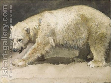 The Polar Bear by Archibald Thorburn - Reproduction Oil Painting