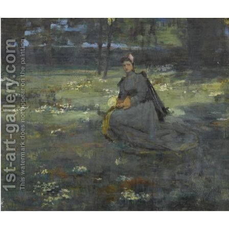 Among The Primroses by Sir John Lavery - Reproduction Oil Painting