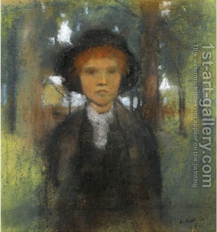 A Young Lady by Sir James Guthrie - Reproduction Oil Painting