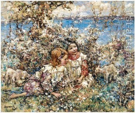 Springtime 3 by Edward Atkinson Hornel - Reproduction Oil Painting