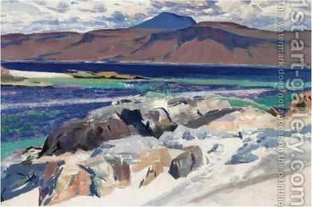 Ben More From Iona by Francis Campbell Boileau Cadell - Reproduction Oil Painting