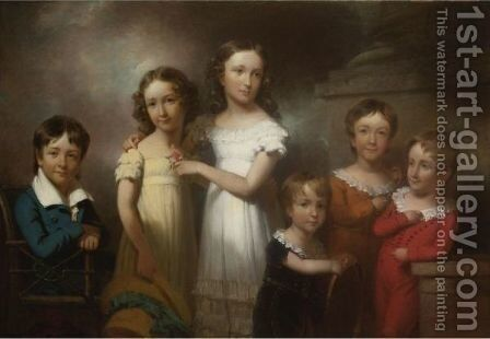 The Children Of Henry Livingston by Henry Inman - Reproduction Oil Painting